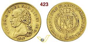 VITTORIO EMANUELE I  (1802-1821)  20 Lire ...