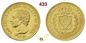 CARLO FELICE  (1821-1831)  80 Lire 1826 ...