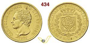 CARLO FELICE  (1821-1831)  80 Lire 1827 ...