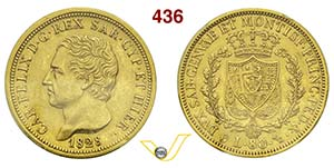 CARLO FELICE  (1821-1831)  80 Lire 1828 ...