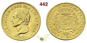 CARLO FELICE  (1821-1831)  20 Lire 1826 ...