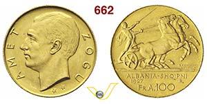 ALBANIA  ZOG I  (1925-1939)  100 Franga Ari ...