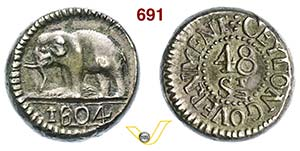 CEYLON  Giorgio III  (1760-1820)  48 Stivers ...