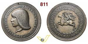 ALESSANDRO CINUZZI  (1458-1474)  Medaglia ...