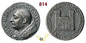 PAOLO II, Papa  (1464-1471)  Medaglia 1465 ...