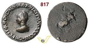 ANONIMA  (1490)  Medaglia uniface 1490.  D/ ...