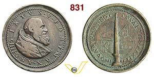 SISTO V, Papa  (1585-1590)  Medaglia A. IV, ...