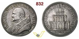 PAOLO V, Papa  (1605-1621)  Medaglia A. IX ...