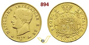 MILANO  NAPOLEONE I  (1804-1814)  40 Lire ...