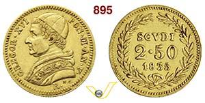 ROMA  GREGORIO XVI  (1831-1846)  2,5 Scudi ...