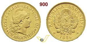 ARGENTINA      1 Argentino 1886.   Kr. 31   ...