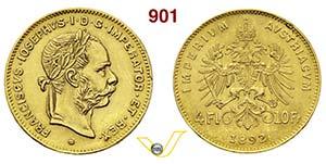AUSTRIA  FRANCESCO GIUSEPPE I  (1848-1916)  ...