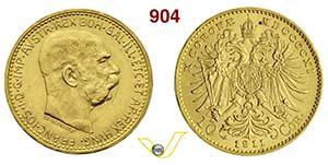 AUSTRIA  FRANCESCO GIUSEPPE I  (1848-1918)  ...