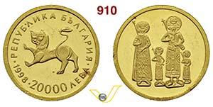 BULGARIA      20.000 Leva 1998.   Au   g ...