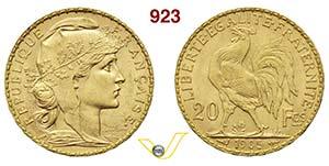 FRANCIA      20 Franchi 1905 A, Parigi.   ...
