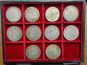 10 monete italiane in argento modulo scudo ...