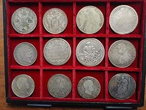 12 monete italiane in argento modulo scudo ...