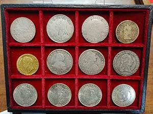 24 monete estere in Ag (10 modulo scudo) e ...