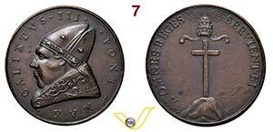 CALLISTO III  1455/1458  MEDAGLIA DI ...