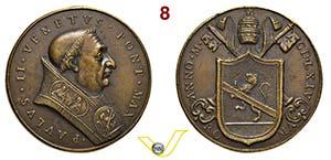 PAOLO II  1464/1471  MEDAGLIA DI ...