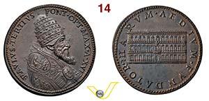 PAOLO III ANNO XVI restrike bronze medal Ø ...