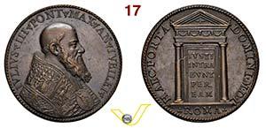 GIULIO III  1550/1555  1550 ANNO I  RICONIO ...
