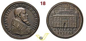 GIULIO III  1550/1555  1553 ANNO IV RICONIO ...