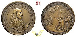 PIO V  1566/1572  1570 ANNO V RICONIO ...