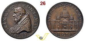 SISTO V  1585/1900  1590 ANNO VI RICONIO ...