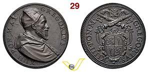 GREGORIO XIV  1590/1591  RICONIO SUCCESSIVO ...
