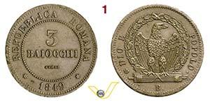 BOLOGNA - II REPUBBLICA ROMANA  (1848-1849)  ...