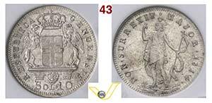 GENOVA - REPUBBLICA GENOVESE  (1814)  10 ...