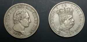 CARLO FELICE  (1821-1831)  Lira 1828 Genova. ...