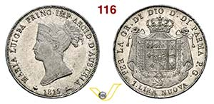 PARMA - MARIA LUIGIA  (1815-1847)  Lira ...