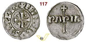 PAVIA - ENRICO VI  (1014-1024)  Denaro.  D/ ...
