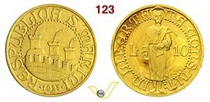 ROMA - SAN MARINO  (1864-1938)  10 Lire ...