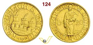 ROMA - SAN MARINO  (1864-1938)  20 Lire ...