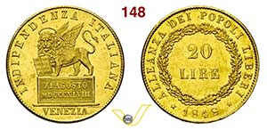 VENEZIA - GOVERNO PROVVISORIO  (1848-1849)  ...