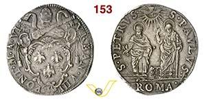 URBANO VIII  (1623-1644)  Testone A. VI, ...