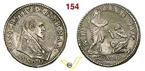 INNOCENZO X  (1644-1655)  Piastra A. II, ...