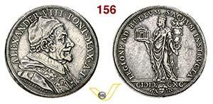 ALESSANDRO VIII  (1689-1691)  Piastra 1690 ...