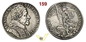 INNOCENZO XII  (1691-1700)  Piastra 1692 A. ...