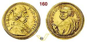 CLEMENTE XI  (1700-1721)  Mezzo Scudo doro ...