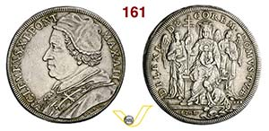 CLEMENTE XI  (1700-1721)  Piastra 1702 A. ...