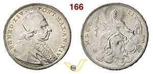 BENEDETTO XIV  (1740-1758)  Scudo 1754 A. ...