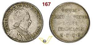 BENEDETTO XIV  (1740-1758)  Scudo A. XVII, ...