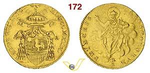SEDE VACANTE  (1829)  Doppia 1829, Bologna.  ...