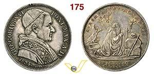 GREGORIO XVI  (1831-1846)  50 Baiocchi 1834 ...