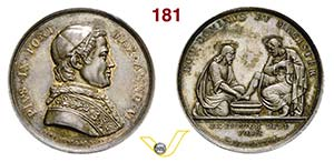 PIO IX  (1846-1878)  Med. A. V per la ...