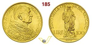 PIO XI  (1929-1938)  100 Lire 1929 VIII, ...